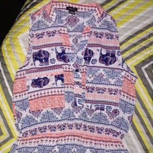 Rue21 Elephant Tribal High/low Dress